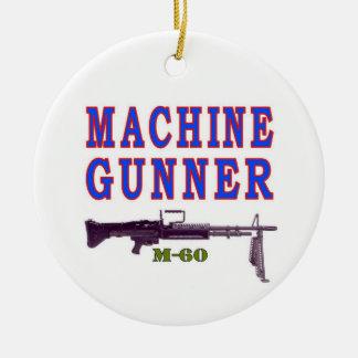 MACHINE GUNNER CERAMIC ORNAMENT