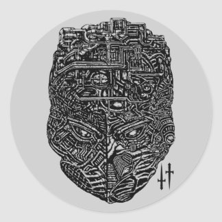 Machine Head Classic Round Sticker