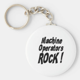 Machine Operators Rock! Keychain
