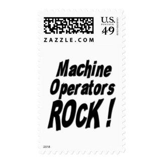 Machine Operators Rock ! Stamp
