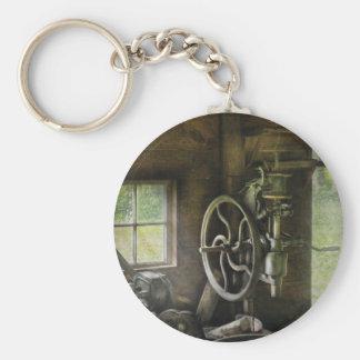 Machine Shop - An old drill press Key Chains