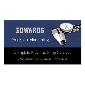Machine Shop Double-Sided Standard Business Cards (Pack Of 100)