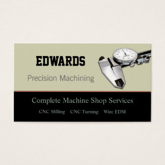 Machine Shop Business Card