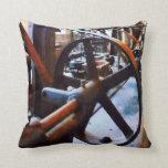 Machine Shop Throw Pillows