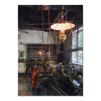 Machine Shop With Lantern Card