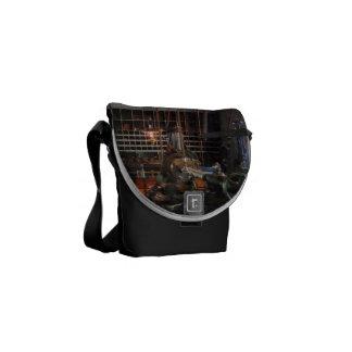 Machine Shop With Lantern Messenger Bag