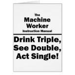 machine worker card
