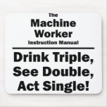machine worker mouse pad