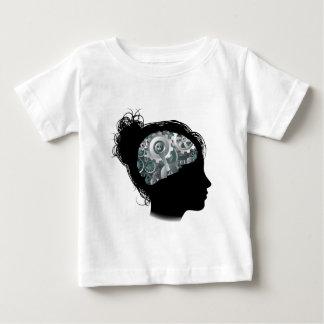Machine Workings Gears Cogs Brain Woman Concept Baby T-Shirt