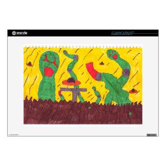 Machine worms laptop skins