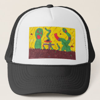 Machine worms trucker hat