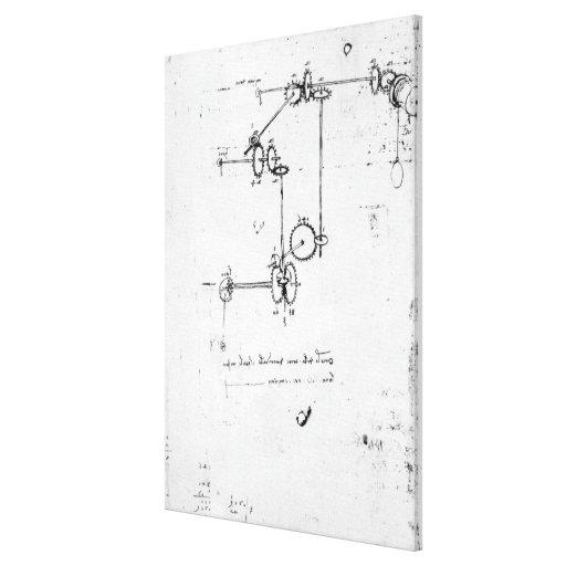 Machinery designs, fol. 399v-b canvas print