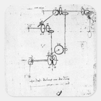 Machinery designs, fol. 399v-b square sticker
