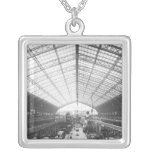 Machinery Hall, Universal Exhibition Square Pendant Necklace