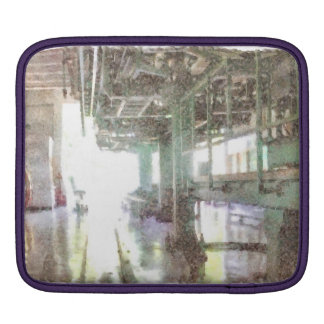 Machinery in a factory iPad sleeves