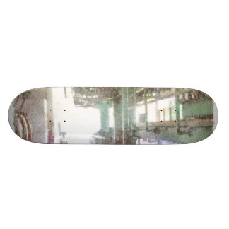 Machinery in a factory skate boards