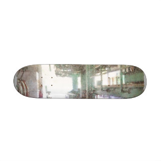 Machinery in a factory skate deck