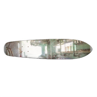Machinery in a factory skateboard deck