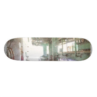 Machinery in a factory skateboards