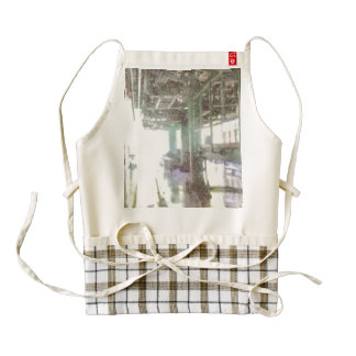 Machinery in a factory zazzle HEART apron