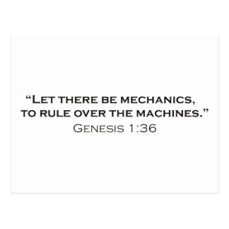 Machines / Genesis Postcard