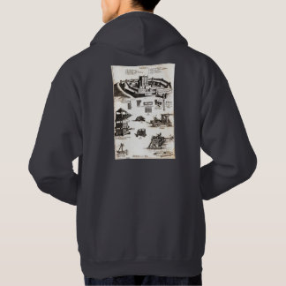 Machines of War and Castle Diagram Hooded Pullover