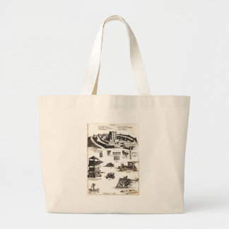 Machines of War and Castle Diagram Large Tote Bag