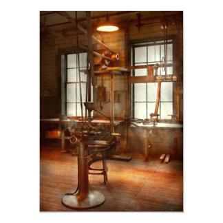 """Machinist - A lone grinder 5"""" X 7"""" Invitation Card"""