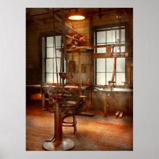 Machinist - A lone grinder Print