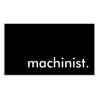 machinist. business card