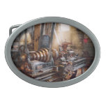 Machinist - Fire Department Lathe Oval Belt Buckle