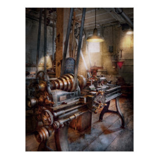 Machinist - Fire Department Lathe Poster