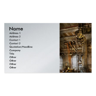 Machinist - In the age of industry Business Card Templates