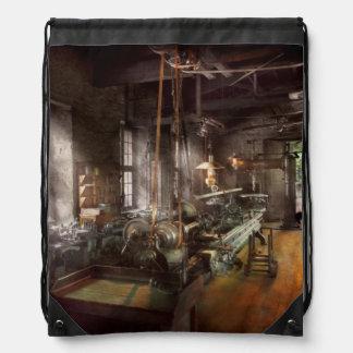 Machinist - Lathe - A long lathe Drawstring Backpack