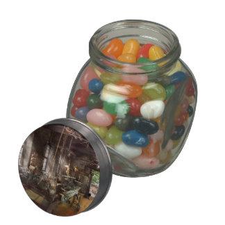 Machinist - Lathe - A long lathe Glass Candy Jars