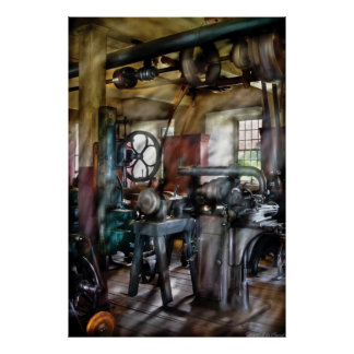 Machinist  - Many old machines Poster