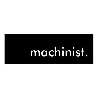 machinist. mini business card