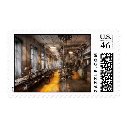 Machinist - Santa's old workshop Postage Stamp