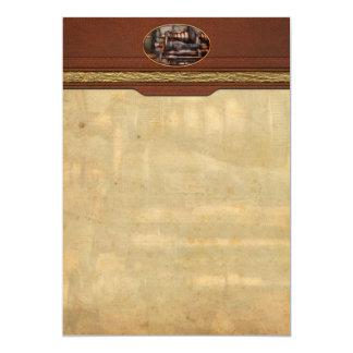 Machinist - Steampunk - 5 Speed Semi Automatic 5x7 Paper Invitation Card