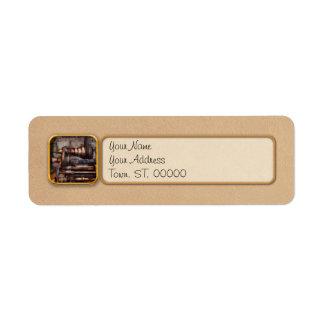 Machinist - Steampunk - 5 Speed Semi Automatic Return Address Label