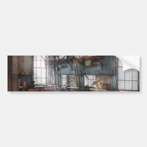 Machinist - Steampunk - The contraption room Bumper Sticker