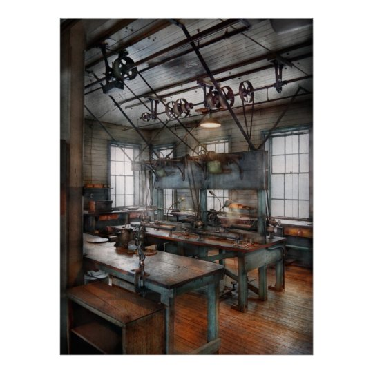 Machinist - Steampunk - The contraption room Poster
