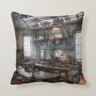 Machinist - Steampunk - The contraption room Throw Pillow