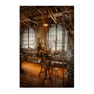Machinist - The crowded workshop Postcard