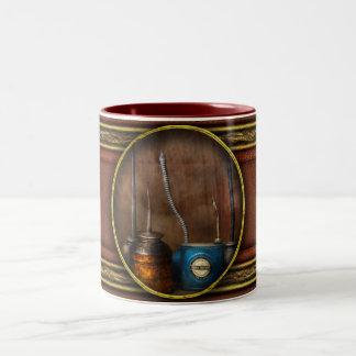 Machinist - Tools - Lubrication Dispensers Two-Tone Coffee Mug