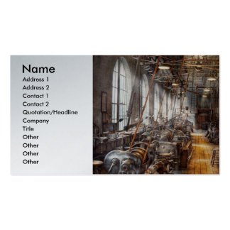 Machinist - Welcome to the workshop Double-Sided Standard Business Cards (Pack Of 100)
