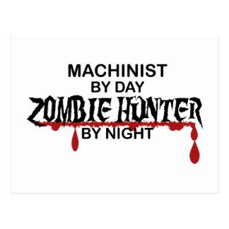 Machinist Zombie Hunter Postcard