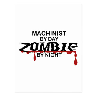 Machinist Zombie Postcard