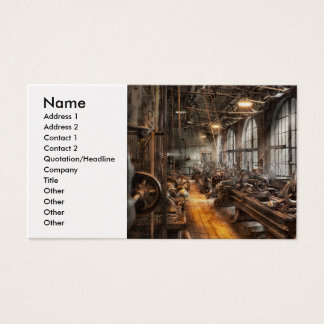 Machinst - A room full of Lathes  Business Card