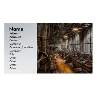 Machinst - un cuarto por completo de tornos plantillas de tarjetas de visita